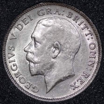 1913 George V Sixpence Obv