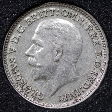 1928 George V Silver Threepence Obv