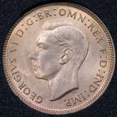 1942 George VI Farthing Obv