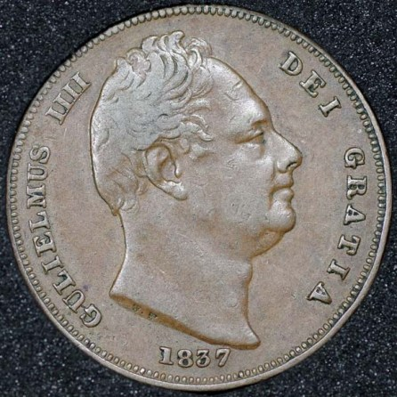 1837 William IV Farthing Obv