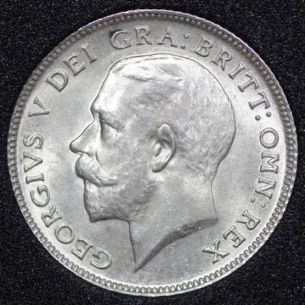 1912 George V Sixpence Obv