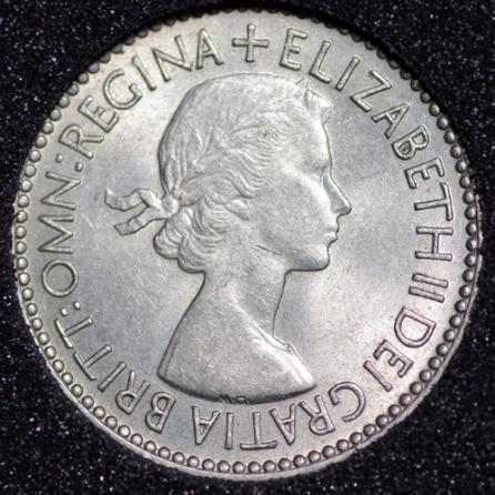 1953 Elizabeth II Sixpence 2+A Obv
