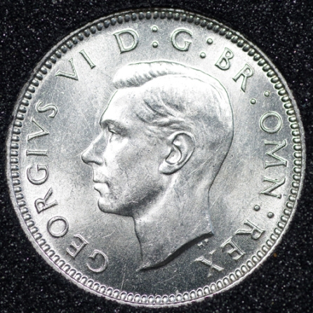 1940 George VI Sixpence Obv