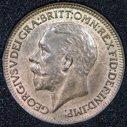 1932 George V Farthing Obv