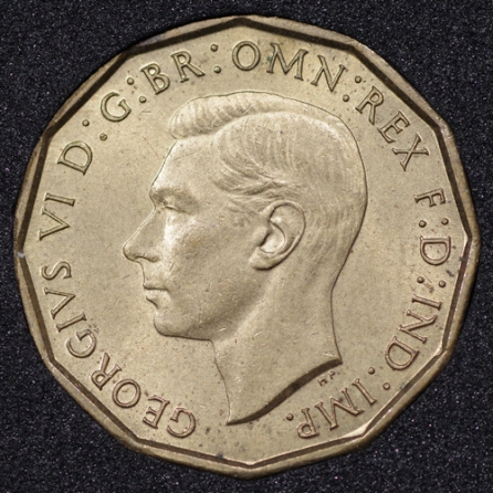 1941 George VI Threepence Obv