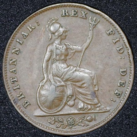 1837 William IV Farthing Rev