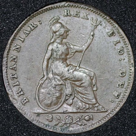 1836 William IV Farthing Rev