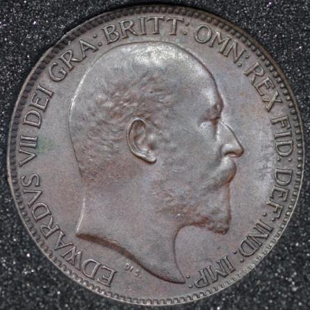 1905 Edward VII Farthing DARKENED Obv