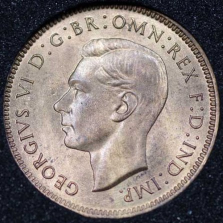 1948 George VI Farthing Obv