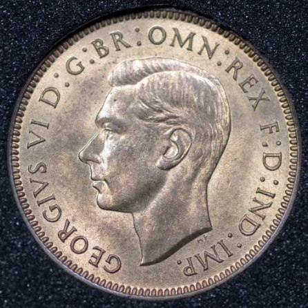 1937 George VI Farthing Obv