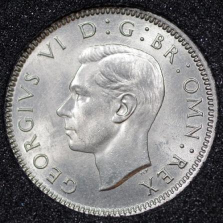 1948 George VI Sixpence Obv