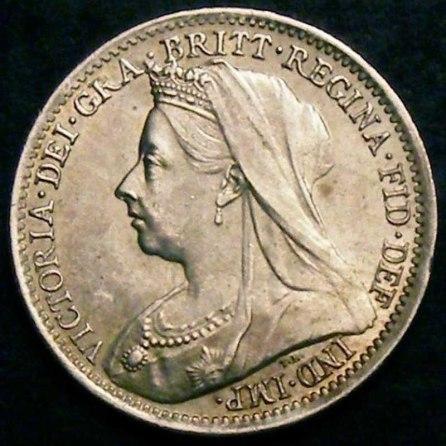1901 Victoria Silver Threepence Obv (2)