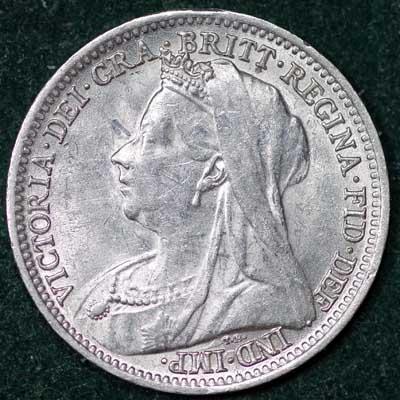 1901 Victoria Silver Threepence Obv (3)