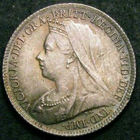 1899 Sixpence Victoria Obv Web