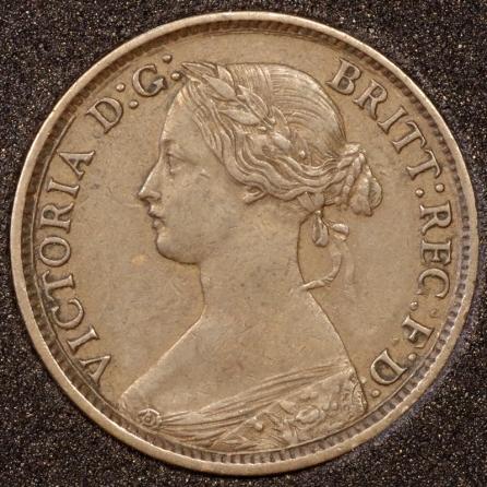 1861 Farthing Obv