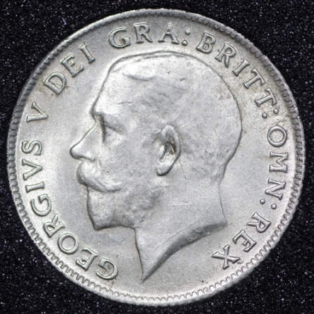 1921 George V Sixpence Obv
