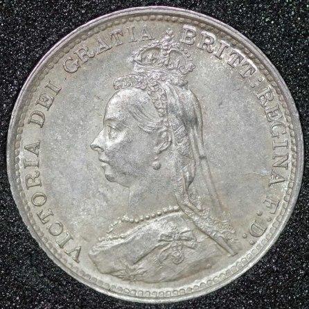 1889 Victoria Silver Threepence Obv
