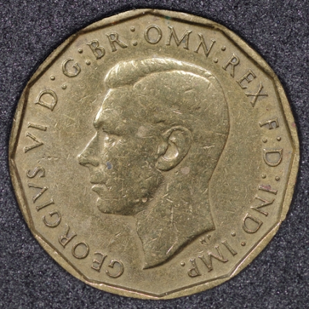 1946 George VI Threepence Obv