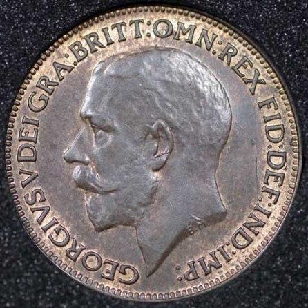 1924 George V Farthing Obv