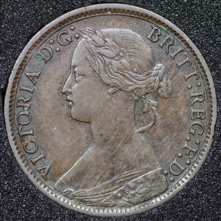 1873 Farthing Obv