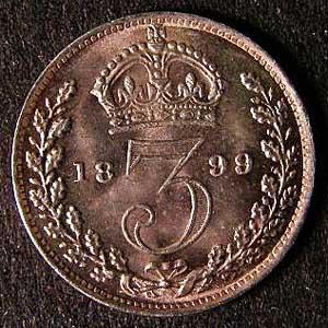 1899 Silver 3d Victoria Rev Web