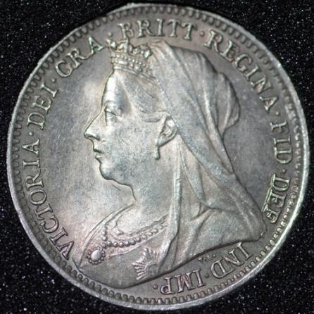 1898 Silver 3d Victoria Obv Web