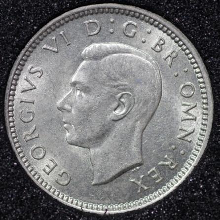 1941 George VI Silver Threepence Obv