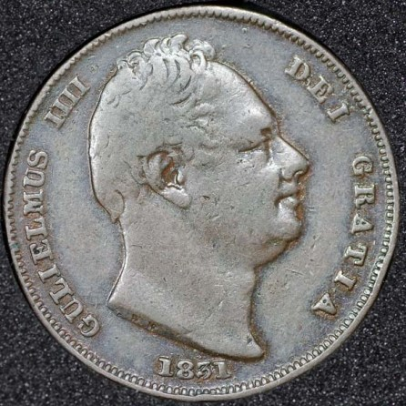 1831 William IV Farthing Obv