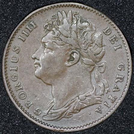 1823 George IV Farthing Obv